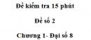 Đề kiểm tra 15 phút Đề số 2 - Bài 1 - Chương 1 - Đại số 8