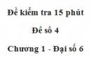 Đề kiểm tra 15 phút - Đề số 4 - Bài 3 - Chương 1 - Đại số 6