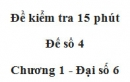 Đề kiểm tra 15 phút - Đề số 4 - Bài 9 - Chương 1 - Đại số 6
