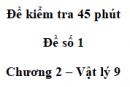 Đề kiểm tra 45 phút (1 tiết) - Đề số 1 - Chương 2 - Vật lí 9