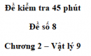 Đề kiểm tra 45 phút (1 tiết) - Đề số 8 - Chương 2 - Vật lí 9