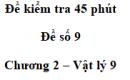 Đề kiểm tra 45 phút (1 tiết) - Đề số 9 - Chương 2 - Vật lí 9