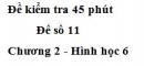 Đề kiểm tra 45 phút (1 tiết) - Đề số 11 - Chương 2 - Hình học 6