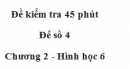 Đề kiểm tra 45 phút (1 tiết) - Đề số 4 - Chương 2 - Hình học 6