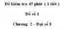 Đề kiểm tra 45 phút (1 tiết ) - Đề số 1  – Chương 2 – Đại số 8
