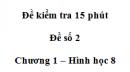 Đề kiểm tra 15 phút - Đề số 2 - Bài 6 - Chương 1 - Hình học 8