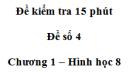 Đề kiểm tra 15 phút - Đề số 4 - Bài 9, 10 - Chương 1 - Hình học 8
