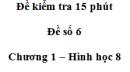 Đề kiểm tra 15 phút - Đề số 6 - Bài 9, 10 - Chương 1 - Hình học 8