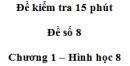 Đề kiểm tra 15 phút - Đề số 8 - Bài 9, 10 - Chương 1 - Hình học 8