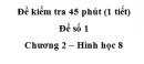 Đề kiểm tra 45 phút (1 tiết ) - Đề số 1 - Chương 2 - Hình học 8