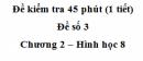 Đề kiểm tra 45 phút (1 tiết ) - Đề số 3 - Chương 2 - Hình học 8