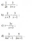 Bài tập 8 trang 79 Tài liệu dạy – học Toán 8 tập 1
