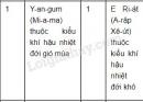 Bài 3 trang 6 Tập bản đồ Địa lí 8