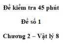 Đề kiểm tra 45 phút (1 tiết) - Đề số 1 - Chương 2 - Vật lí 8