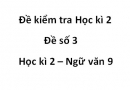 Đề số 3 - Đề kiểm tra học kì 2 (Đề thi học kì 2) – Ngữ văn 9