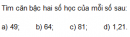 Trả lời câu hỏi 2 Bài 1 trang 5 SGK Toán 9 Tập 1