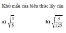 Trả lời câu hỏi 1 Bài 7 trang 28 SGK Toán 9 Tập 1