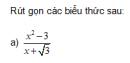 Trả lời câu hỏi 3 Bài 8 trang 32 SGK Toán 9 Tập 1