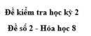 Đề số 2 - Đề kiểm tra học kì 2 - Hóa học 8