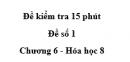 Đề kiểm tra 45 phút (1 tiết) - Đề số 1 - Chương 6- Hóa học 8