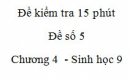 Đề kiểm tra 15 phút - Đề số 5 - Chương 4 - Sinh học 9