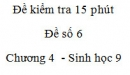 Đề kiểm tra 15 phút - Đề số 6 - Chương 4 - Sinh học 9