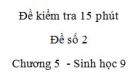 Đề kiểm tra 15 phút - Đề số 2 - Chương 5 - Sinh học 9