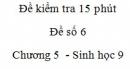 Đề kiểm tra 15 phút - Đề số 6 - Chương 5 - Sinh học 9
