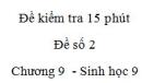Đề kiểm tra 15 phút - Đề số 2 - Chương 9 - Sinh học 9