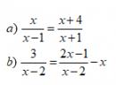Trả lời câu hỏi 2 Bài 5 trang 20 SGK Toán 8 Tập 2