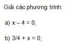 Trả lời câu hỏi 1 Bài 2 trang 8 SGK Toán 8 Tập 2