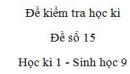 Đề số 15 - Đề kiểm tra học kì 2 - Sinh học 9