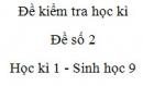Đề số 2 - Đề kiểm tra học kì 1 - Sinh học 9