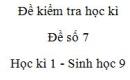Đề số 7 - Đề kiểm tra học kì 1 - Sinh học 9