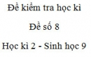 Đề số 8 - Đề kiểm tra học kì 2 - Sinh học 9