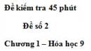 Đề kiểm tra 45 phút (1 tiết) – Đề số 2 – Chương 1 – Hóa học 9