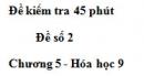 Đề kiểm tra 45 phút (1 tiết) – Đề số 2 – Chương 5 – Hóa học 9