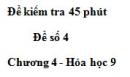 Đề kiểm tra 45 phút (1 tiết) – Đề số 4 – Chương 4 – Hóa học 9