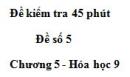 Đề kiểm tra 45 phút (1 tiết) – Đề số 5 – Chương 5 – Hóa học 9