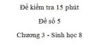 Đề kiểm tra 15 phút - Đề số 5 - Chương 3 - Sinh học 8