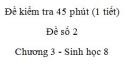 Đề kiểm tra 45 phút (1 tiết) - Đề số 2 - Chương 3 - Sinh học 8