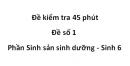 Đề kiểm tra 45 phút - Đề số 1 - Phần Sinh sản sinh dưỡng - Sinh 6