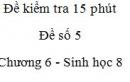 Đề kiểm tra 15 phút - Đề số 5 - Chương 6 - Sinh học 8