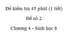 Đề kiểm tra 45 phút (1 tiết) - Đề số 2 - Chương 4 - Sinh học 8