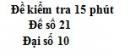 Đề kiểm tra 15 phút - Chương 6 - Đề số 2 - Đại số 10