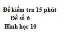 Đề kiểm tra 15 phút - Chương 3 - Đề số 2 - Hình học 10