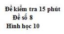 Đề kiểm tra 15 phút - Chương 3 - Đề số 4 - Hình học 10