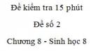 Đề kiểm tra 15 phút - Đề số 2 - Chương 8 - Sinh học 8