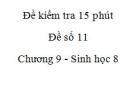 Đề kiểm tra 15 phút - Đề số 11 - Chương 9 - Sinh học 8