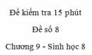 Đề kiểm tra 15 phút - Đề số 8 - Chương 9 - Sinh học 8